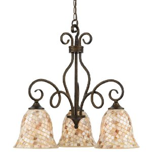 Quoizel Monterey Mosaic 3 Light Chandelier