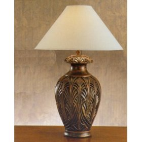 Antique Bronze Table Lamp 32 Inch