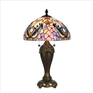 Dale Tiffany Crystal Peony Table Lamp