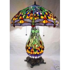 Dragonfly Stained Glass Tiffany Table Lamp