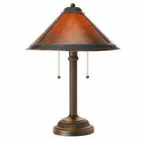 Dual 40-Watt Mica Table Lamp