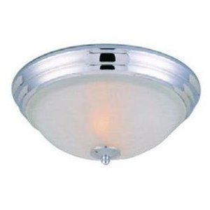 Hampton Bay Chrome 2-Light Flushmount Lamp