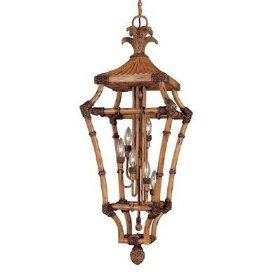 Hampton Bay 40 In. High 6 Light Foyer Pendant