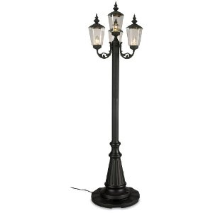 Perfect Cambridge Park Style Four Light Plug In Patio Post