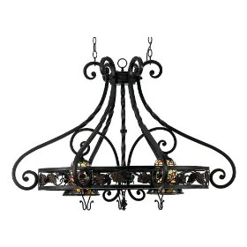 Quoizel Fruit Harvest 26 Inch Pot Rack Chandelier Pot