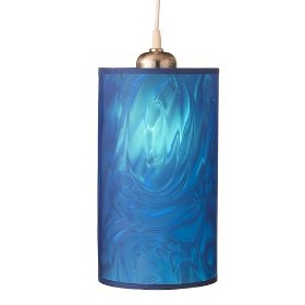 Slim Pendant Hanging Lamp with Vinyl Moire Shade