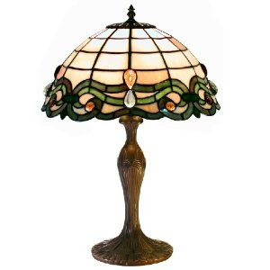 Tiffany-Style Semi-Baroque Table Lamp